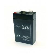 Olověná baterie - bezúdržbový akumulátor 6V - 3.0Ah - CTM - CT 6-3