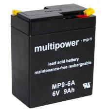 Olověná baterie - bezúdržbový akumulátor 6V, 9.0Ah - Multipower - MP9-6A