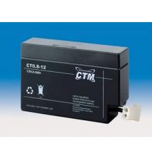 Olověná baterie - bezúdržbový akumulátor 12V, 0.8Ah - CTM - CT 0.8‐12JST