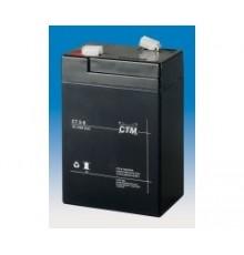 Olověná baterie - bezúdržbový akumulátor 6V - 5.0Ah - CTM - CT 6-5