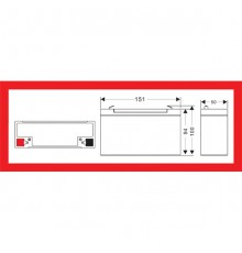 Olověná baterie - bezúdržbový akumulátor 6V, 12.0Ah - Motoma - MS6V12