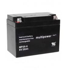Olověná baterie - bezúdržbový akumulátor 6V - 20.0Ah - Multipower - MP20-6