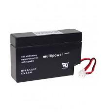 Olověná baterie - bezúdržbový akumulátor 12V - 0.8Ah - Multipower - MP08-12AMP