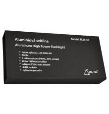 Svítilna 3W LED CREE - CEL-TEC FLZA 50 - 3 režimy - fokus - nabíjecí - hliníková - dárková krabice - 1x Li-ion