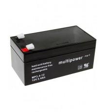 Olověná baterie - bezúdržbový akumulátor 12V - 3.4Ah - Multipower - MP3.4-12