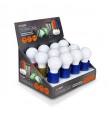 LED svítilna - žárovka - 1W - 3 x AAA