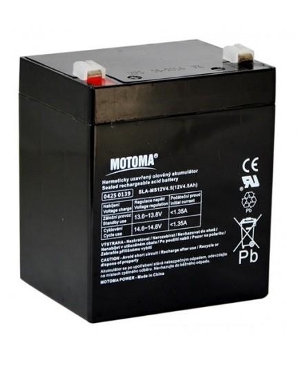 Olověná baterie - bezúdržbový akumulátor 12V - 4.5Ah - Motoma - MS12V4.5
