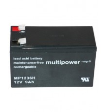 Olověná baterie - bezúdržbový akumulátor 12V - 9.0Ah - Multipower - MP1236H | RBC17