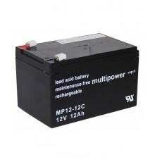 Olověná baterie trakční - pro elektromotory 12V - 12.0Ah - Multipower - MP12-12C