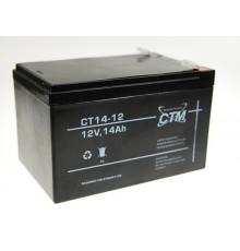 Olověná baterie - bezúdržbový akumulátor 12V - 14.0Ah - CTM - CT 12-14