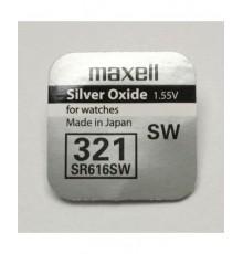 Baterie 321 - Maxell - Low Drain - SR616SW - knoflíková - oxid stříbra - 1ks blistr