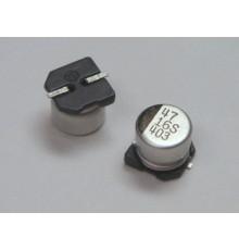 SMD elektrolytický kondenzátor, 47uF, 16V, 6.5*5.2mm.