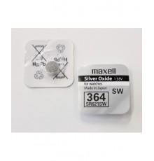 Baterie 364 Maxell - Low Drain - SR621SW - knoflíková - oxid stříbra - 1ks blistr