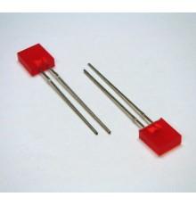 L153IDT - 7*2.3mm LED, červená - rozptylná, 12mcd, 110°, 2V