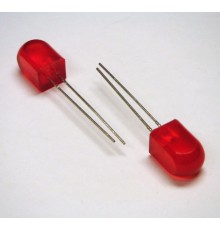 L803ID - 8*8mm LED, červená - rozptylná, 100mcd, 45°, 2.2V