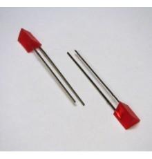 L323ID - Trojúhelníková LED, červená, 8mcd, 100°, 2.2V