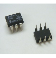 CNY17F-1 - 1*Optočlen, LED/TRANZISTOR, Uiz=5.3kV, If=100mA, Uce=70V, 80%, 2µ