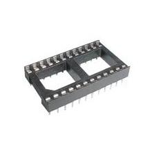 DIL 24 patice pro integrovaný obvod 2 x 12 pinů, 2.54mm, 24pinů