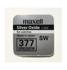 Baterie 377 Maxell - Low Drain - SR626SW - knoflíková - oxid stříbra - 1ks blistr