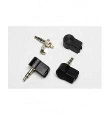 Jack 3.5mm konektor, stereo, úhlový 90°, plastový