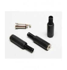 Jack 2.5mm zdířka, stereo, kabelová, plastová
