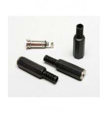 Jack 3.5mm zdířka, mono, kabelová, plastová
