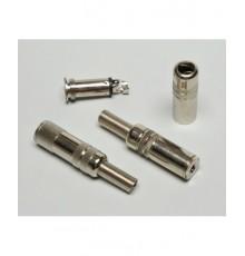 Jack 3.5mm zdířka, mono, kabelová, kovová - nikl