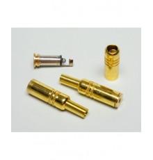 Jack 3.5mm zdířka, mono, kabelová, zlacená