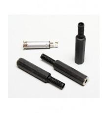 Jack 6.3mm zdířka, mono, kabelová, plastová