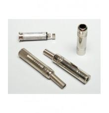 Jack 6.3mm zdířka, mono, kabelová, kovová - nikl