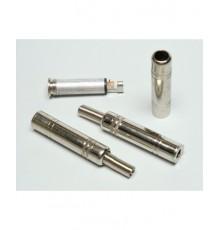 Jack 6.3mm zdířka, stereo, kabelová, kovová - nikl