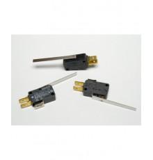 MS108 - mikrospínač s  páčkou délky 50mm, přepínací, 240V, 16A, 6.3mm