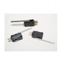MS109 - mikrospínač s páčkou délky 50mm, přepínací, 240V, 16A, 4.6mm
