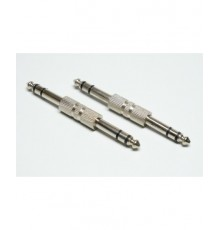 Jack 6.3mm spojka - konektor/konektor, stereo, kov