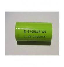 Akumulátor - baterie SC - 1.2V/1700mAh - NiCd   N-1700SCR