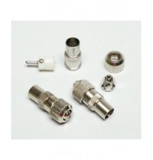 Anténní konektor, IEC, přímý, kovový, šroubovací