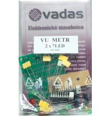 AV-041 - stereo indikátor vybuzení, 2 x 7LED, stavebnice