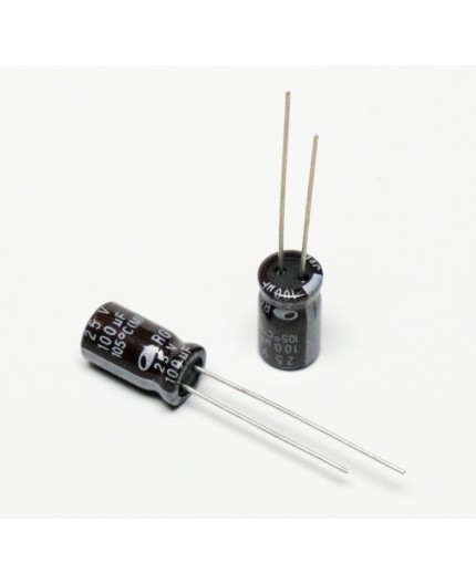 Elektrolytický kondenzátor, 100uF, 25V, 6.5*12mm