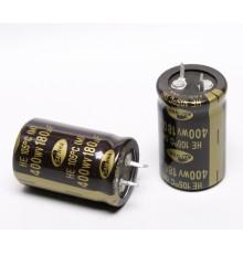 Elektrolytický kondenzátor - SNAP-IN, 180uF, 400V, 25*40mm