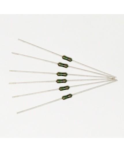 6K2/0.6W - metalizovaný rezistor, 0.6W, ±1%, 50ppm, SMA0207