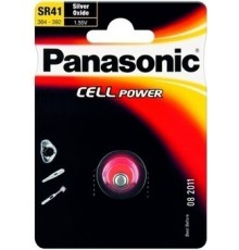 Baterie SR41 - Panasonic - High Drain - 392 - LR41 - knoflíková - oxid stříbra - 1ks blistr