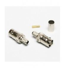 BNC zdířka, 6mm (RG-59), kabelová, crimpovací