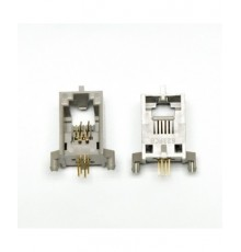 Telefonní zdířka, 6 - 4 piny, úhlová, do PS