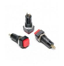 Tlačítko spínací, OFF-ON, 250V/1A, 15*15mm,červené