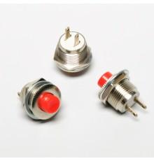 Tlačítko spínací, OFF-ON, 250V/1A, střední, d=12mm
