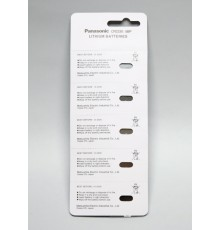 Baterie Panasonic CR2330, 3V, knoflíková, lithiová, 1ks blistr