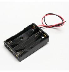 Pouzdro baterie R03 x 3 - vedle sebe