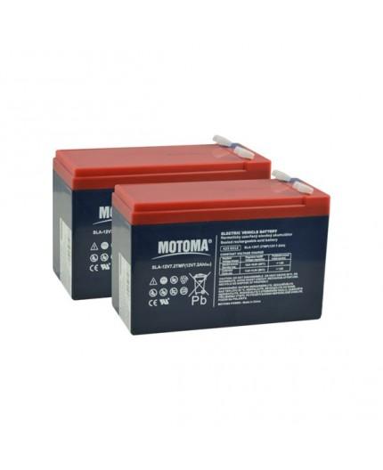 Olověná baterie trakční - pro dětská vozítka 24V, 7.2Ah - Motoma - 12V7.2TMF