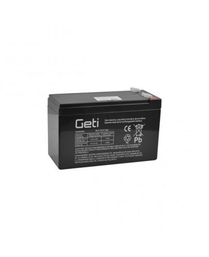 Olověná baterie - bezúdržbový akumulátor 12V - 7.5Ah - Geti - SLA12V7.5, RBC110