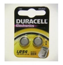 Baterie LR54 Duracell - 189 - AG10 - 1130 - knoflíková - alkalická - cena za 2ks blistr
